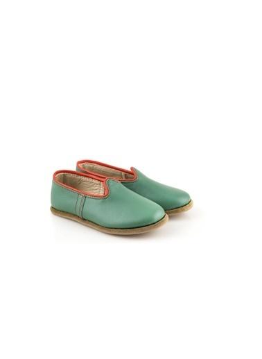 Aintap %100 Hakiki Deri Çocuk Ayakkabı Noel Yeşil Gaziantep Yemeni Yeşil